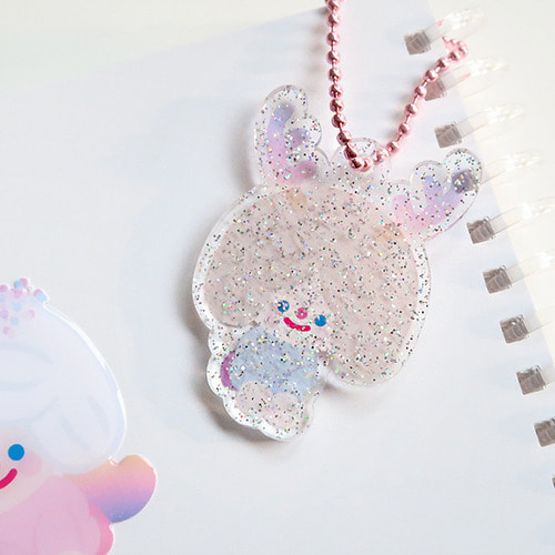 RiCO TOY & COOKIE FRIENDS GLITTER KEYRING 9type *단종예정