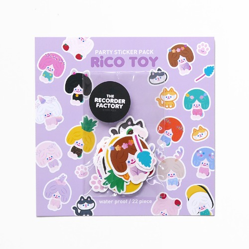 RiCO TOY PARTY STICKER PACK *단종예정