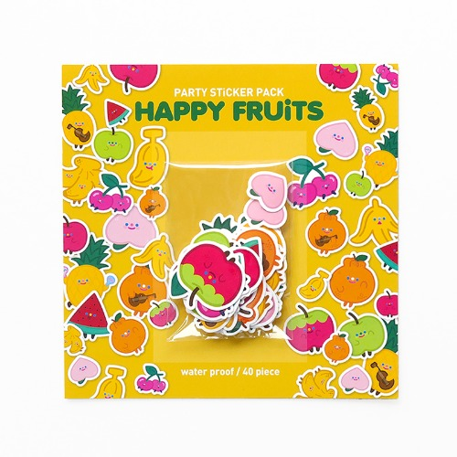 HAPPY FRUITS STICKER PACK