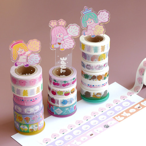 HAPPY VICTORY KAWAII MASKING TAPE HOLDER 3type