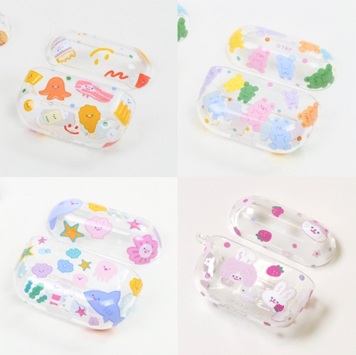 [B품 할인] AIRPODS PRO CLEAR CASE - PATTERN 4type