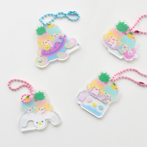 TRF x SANRIO KEYRING - LITTLE TWIN STARS 4type