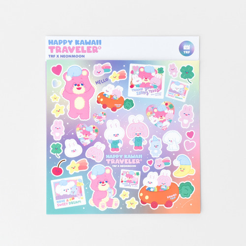 TRF x NEONMOON STICKER - HAPPY KAWAII TRAVELER