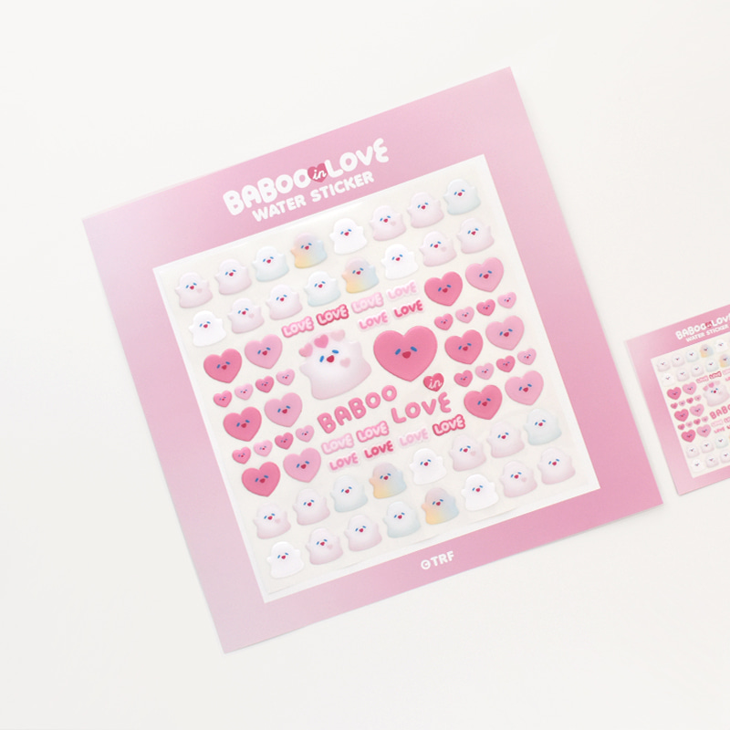 300% BABOO IN LOVE WATER STICKER