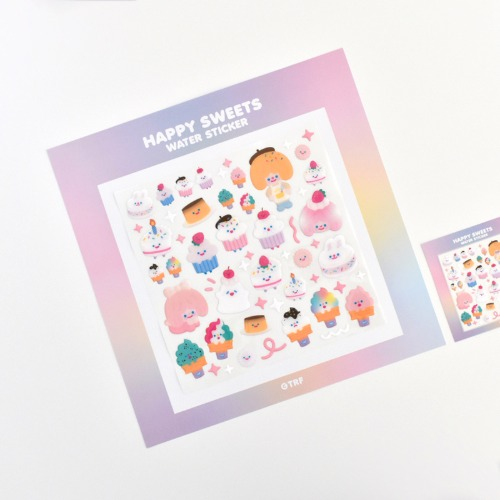 300% HAPPY SWEETS WATER STICKER
