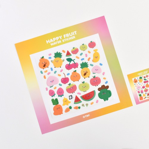 300% HAPPY FRUIT WATER STICKER