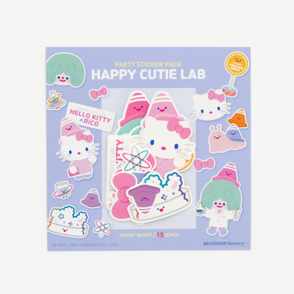 HELLO KITTY x RiCO PARTY STICKER PACK - HAPPY CUTIE LAB