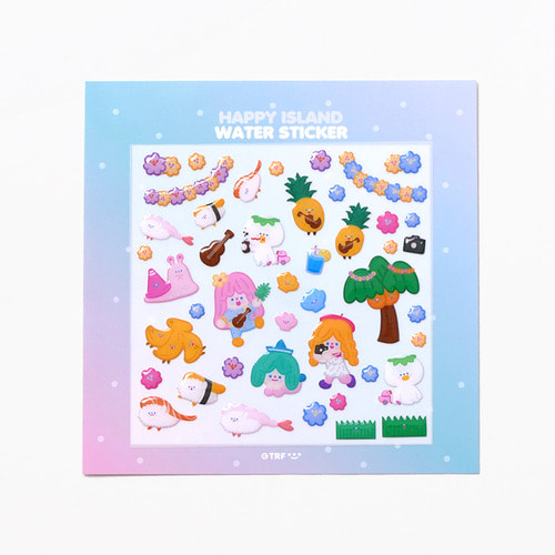 HAPPY ISLAND WATER STICKER *단종예정
