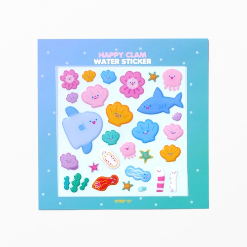 HAPPY CLAM FRIENDS WATER STICKER *단종예정