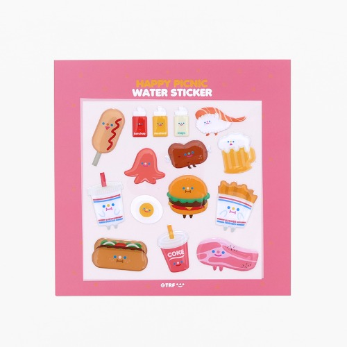 HAPPY PICNIC WATER STICKER *단종예정