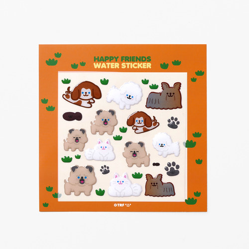 HAPPY FRIENDS WATER STICKER *단종예정