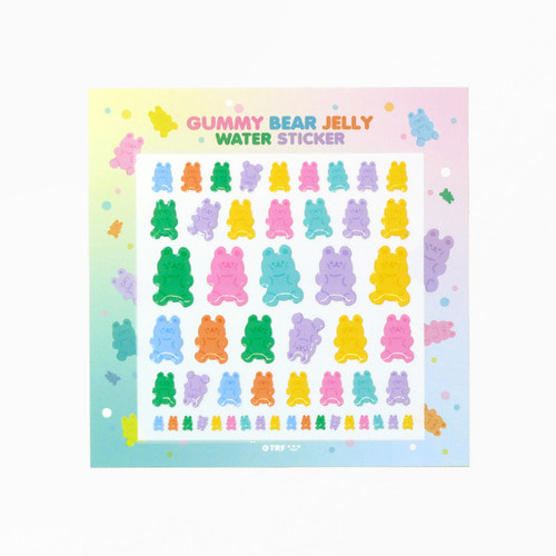 GUMMY BEAR JELLY WATER STICKER