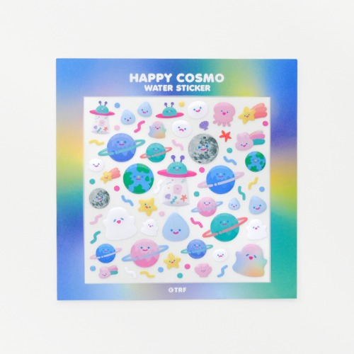 HAPPY COSMO WATER STICKER
