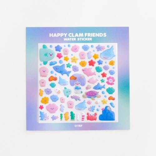 HAPPY CLAM FRIENDS WATER STICKER