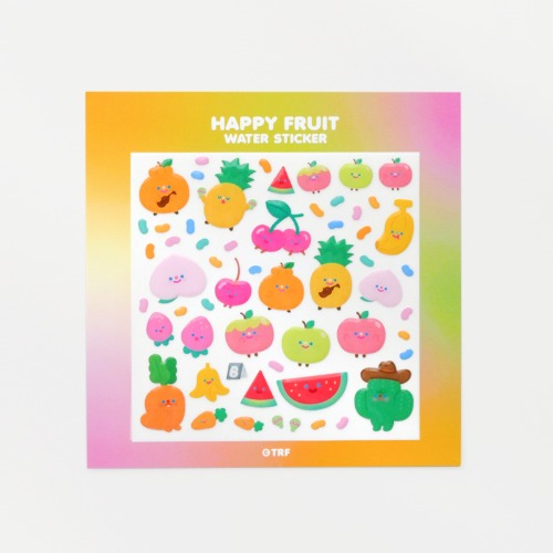 HAPPY FRUIT WATER STICKER