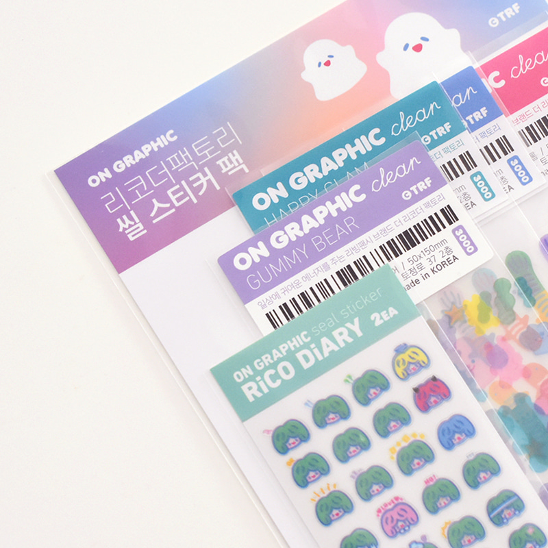 ON GRAPHIC SEAL STICKER PACK