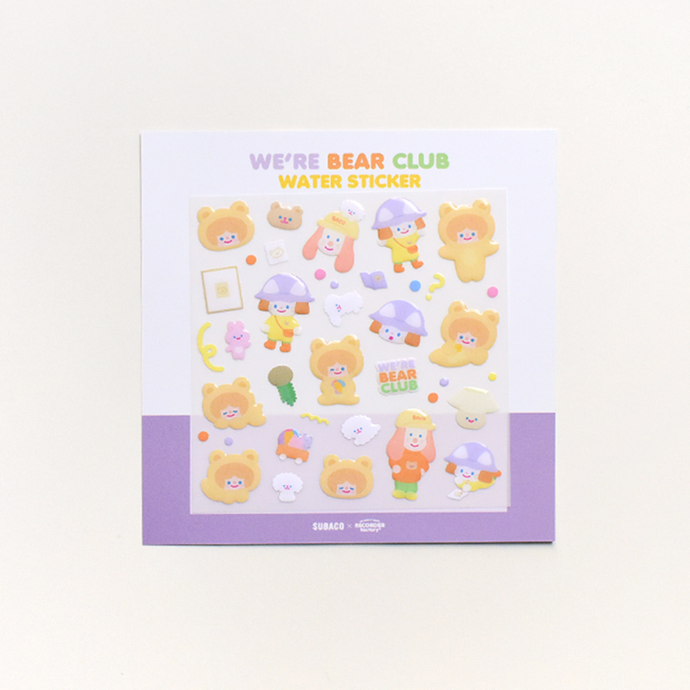 TRF x SUBACO WATER STICKER - WE'RE BEAR CLUB
