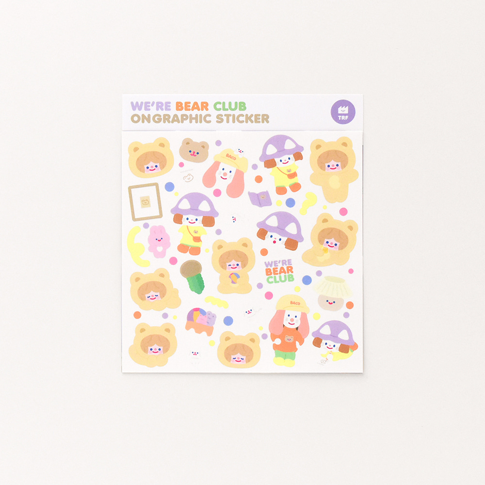 TRF x SUBACO STICKER - WE'RE BEAR CLUB